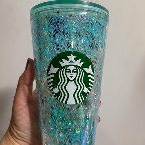 Starbucks Teal Snowglobe